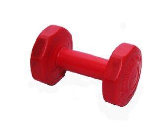 G sport DUMBELL ดัมเบลพลาสติกชนิดเหลี่ยมน้ำหนัก1kg รุ่น LU-1 -สีแดง