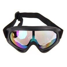 G2G แว่นตากันแดด กันฝุ่น สำหรับขี่มอเตอร์ไซค์ จักรยาน หรือ เล่นกีฬากลางแจ้ง กรอบดำ มีสายรัด เลนส์สีมัลติ จำนวน 1 ชิ้น