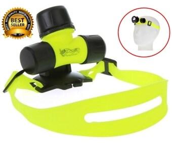 GadgetZ ไฟฉายดำน้ำ ไฟฉายคาดหัว LED - สีเหลือง/ดำ