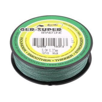 GOOD 50LB Strong Braided Fishing Line green