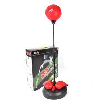 ซื้อ/ขาย GOOD DEAL อุปกรณ์ชกมวย เป้าซ้อมมวย เป้าชกมวย เป้าล้อชกมวย Punching Ball Punch Ball (สีแดง)