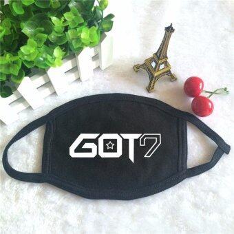 GOT7 LOGO Album KPOP Dust Cotton Masque Face Mask (Black) - intl
