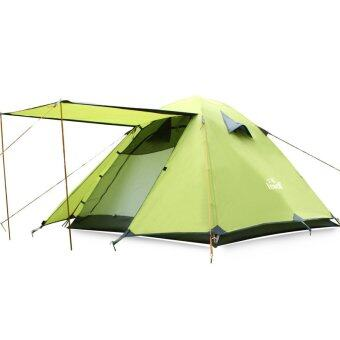 Hewolf 3-4 Person Outdoor Waterproof Family Tent with Carry Bag(Green) - Intl