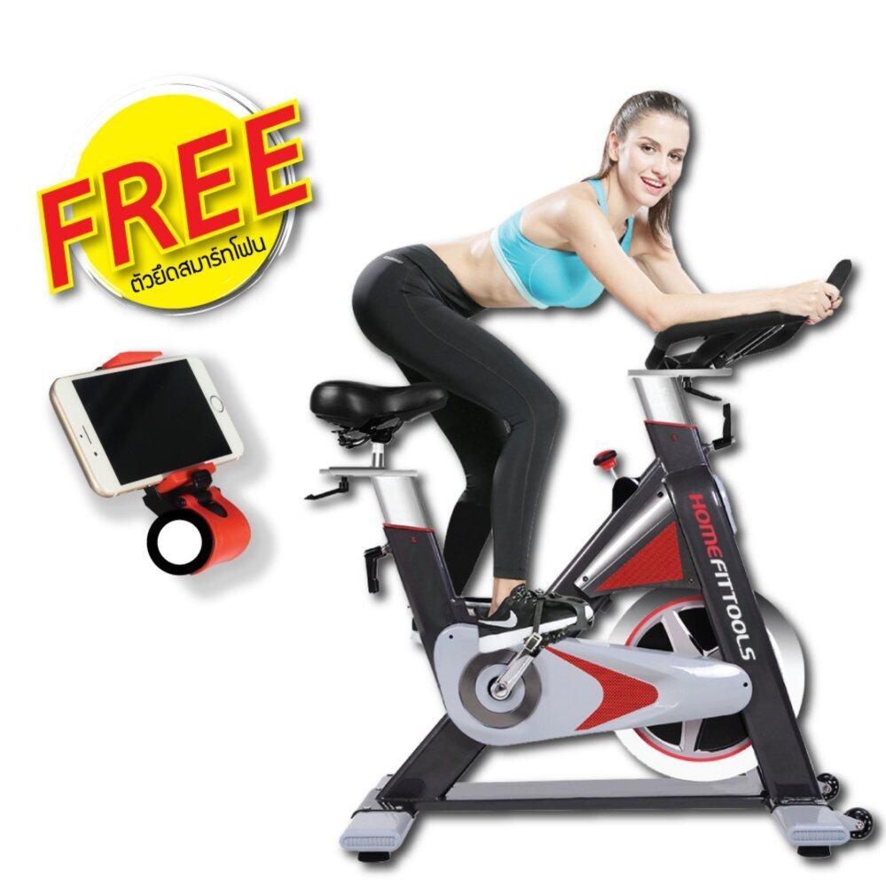 ซ่อม Homefittools - จักรยานออกกำลังกาย จักรยานบริหาร SPINNING BIKE จักรยานฟิตเนส รุ่น SB-005 (แถมฟรีที่วางมือถือ)