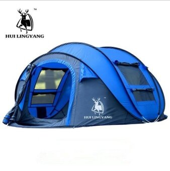 HOT outdoor automatic tents throwing pop up waterproof camping hiking tent waterproof large family tents - intl