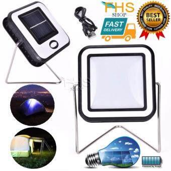 FHS โคมไฟ LED พลังแสงอาทิตย์ได้/ชาร์จไฟผ่าน USB Solar Zoom Camping Light RY-T913 30 LED 2in1