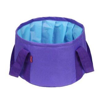 DJSHOP กระเป๋าใส่น้ำ พับเก็บได้ ขนาด 15L(สีม่วง VIOLET)