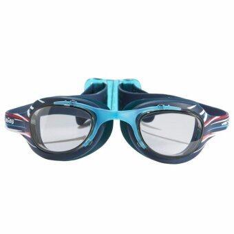 แว่นตาว่ายน้ำรุ่น XBASE PRINT ขนาด L (สีฟ้า MIKA)