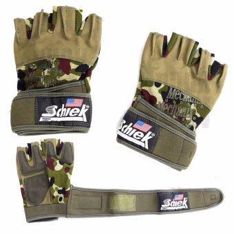 Schiek ถุงมือยกน้ำหนัก ถุงมือฟิตเนส รุ่น Military