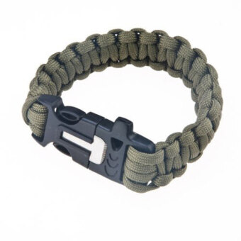 Harga Survival Paracord Bracelet (Army Green)