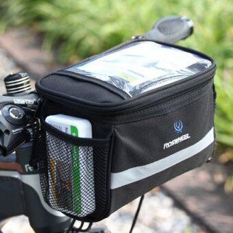 จักรยานตะกร้าตะกร้าหน้ารถจักรยานการขี่จักรยานกลางแจ้งแม่งกระเป๋าท่อกรอบ