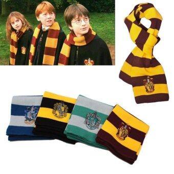 Harry Potter คอสเพลย์ชุดผ้าขนสัตว์ไหมพรมบ้าน Vouge ผ้าพันคอพัน Gryffindor