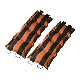 ถุงทราย ถ่วงน้ำหนัก ข้อเท้า ข้อมือ 5LB (2.5 kg) (สีส้ม) 1 คู่ / wrist weight sandbag