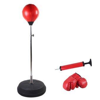 KAKUKI เป้าชก Punch Play Boxing Set อุปกรณ์ชกมวย (สีแดง)