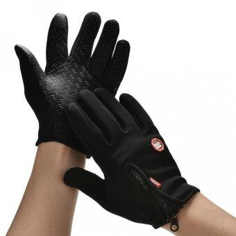 Harga Men Winter Sports Warm Thermal Windproof Ski Snow Motorcycle Snow Gloves M