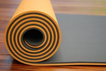 Sappaya Yoga Mat เสื่อโยคะ 2 Layers หนา 8 mm - สีส้ม