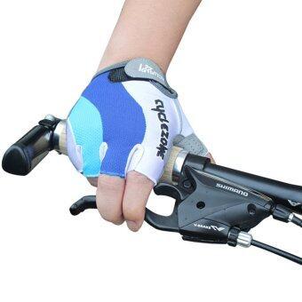 ครึ่งนิ้วถุงมือขี่จักรยานเจล ๆ ถุงมือขี่รถจักรยานปั่นจักรยาน XL
