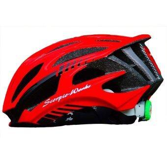 Scorpio-Works หมวกปั่นจักรยาน ไซส์ M Black-Red