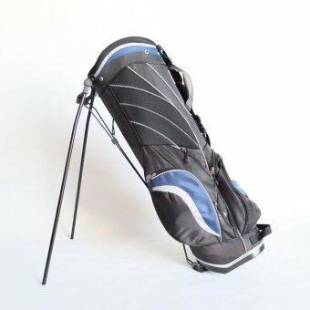 Hayashi - ถุงกอล์ฟผ้าร่ม กันน้ำ แบบขาตั้ง ( สีดำ คาดน้ำเงิน )