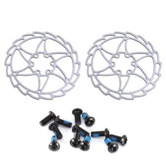 Harga 2PCS Cycling Disc Brake Rotor Brake Kit For Mountain Road Bike with Bolts (160mm) - intl