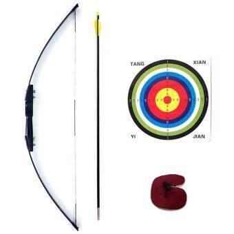 Kinglion Sport ชุดธนูฝึกหัดสำหรับผู้ใหญ่ขนาด 120 ซม. แรงดึง 40 ปอนด์ อุปกรณ์ยิงธนูครบชุด คันธนูไฟเบอร์กลาส+ลูกธนู+เป้ายิงธนู+finger tab Archery Recurve Bow & Arrow Combo Set