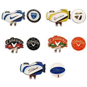 คลิปเหล็ก สำหรับติดหมวกนักกลอ์ฟ (5ชุด) - Magnetic Golf Ball Marker (5 Sets)