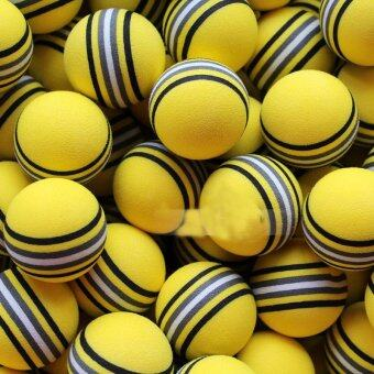 Harga 50Pcs Yellow Golf Rainbow Sponge Balls Light Indoor Outdoor Training Foam Lot