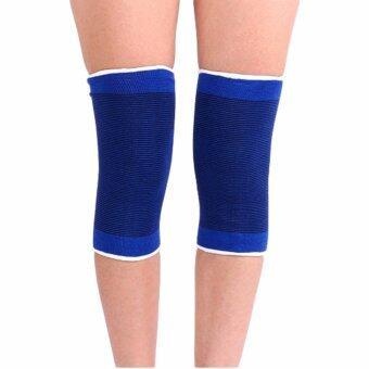 Kinglion Sport ผ้ารัดหัวเข่าสีน้ำเงิน1คู่ ผ้าบรรเทาอาการปวดหัวเข่า ผ้ายืดรัดหัวเข่า Advanced Adjustable Knee Support (1 PAIR)