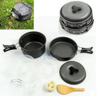 ชุดครัว อุปกรณ์แคมปิ้ง 6ใน1 ชุดหม้อ กะทะ 6-in-1 Mini Outdoor Cooking Picnic Tools Set (Black) รุ่น SY-200
