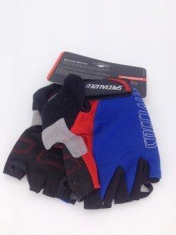 Cbike SPE ถุงมือปั่นจักรยาน New ถุงมือขี่จักรยานใส่กระชับ นุ่มสบายมือ สีน้ำเงิน