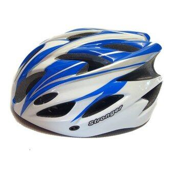 Stronger หมวกจักรยาน รุ่น V-105 (ขาว/ฟ้า)