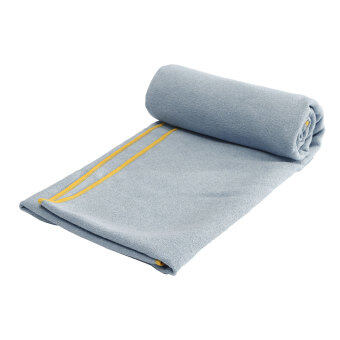 ลื่นเป็นการออกกำลังกายโยคะพิลาทิสท่องเที่ยวไมโครไฟเบอร์คลุมผ้าห่มเสื่อแสงสีเทา