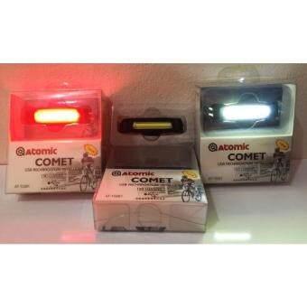 Cbike ไฟ 2สี Atomic COMET usb 150 LUMENS (รุ่นไฟท้ายสีแดง)