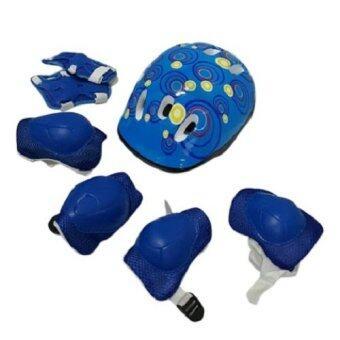 Kid Protection เซ็ทอุปกรณ์ ป้องกันการล้ม 6 ชิ้น + หมวกกันกระแทก (Blue)