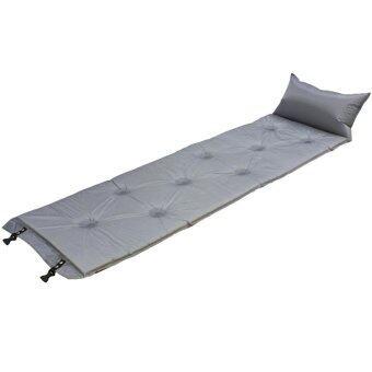 STL ที่นอนแค้มปิ้งสูญญากาศแบบสูบลมอัตโนมัติ 186x60 ซม.(สีเทา)