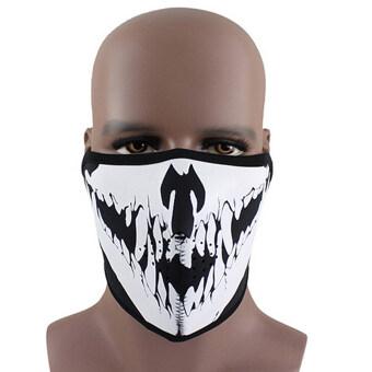 ไอ้หน้ากากใบหน้าเทียมครึ่งหัวเล่นสโนว์บอร์ดเล่นสกีเล่นเสก็ตหมาป่าการป้องกันรถจักรยานยนต์