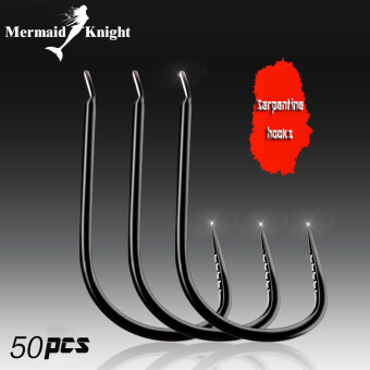 Harga MermaidKnight Fishing Hook 50PCS Carp High Carbon Steel Hooks Fishing Tackle Accessories Paraphernalia Pesca Fishhooks 0.3# - intl