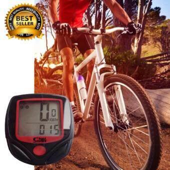 ไมล์จักรยาน วัดความเร็ว กันน้ำ (สีแดง/ดำ) Mountain Bike riding speed tachometer odometer