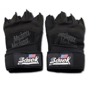 Schiek ถุงมือฟิตเนส Fitness Glove free size (สีดำ)