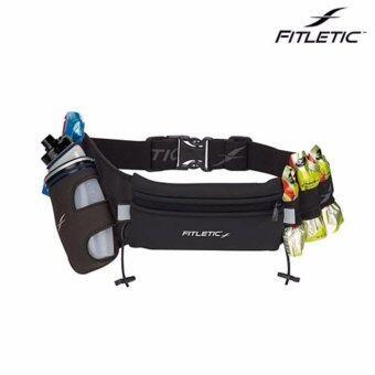 Fitletic กระเป๋าคาดเอวใส่โทรศัพท์ - Fully Loaded Hydration Belt (Black)