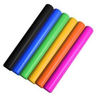 ไม้วิ่งผลัด คธาวิ่งผลัด พลาสติกอย่างดี จำนวน 6 ชิ้น คละสี / ดำ น้ำเงิน เขียว เหลือง ส้ม ชมพู Plastic Relay Batons
