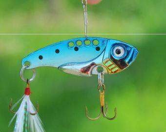 Finfin(ing) เหยื่อปลอม กระดี่ สีฟ้า ขนาด3.5 g.