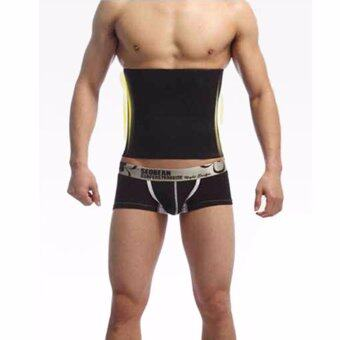 Harga Sunwonder Men Shapewear Fat Slim Belt Tummy Cincher Corset Stomach Body Shapers (Black) - intl