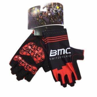 Cbike BMC ถุงมือปั่นจักรยาน ถุงมือขี่จักรยาน ใส่กระชับ ยาวหุ้มข้อมือ ถุงมือจักรยาน เจล