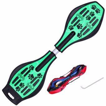 Snakeboard สเน็คบอร์ด สเก็ตบอร์ดไฟฟ้า ที่รองเท้าสเก็ตบอร์ด- Green