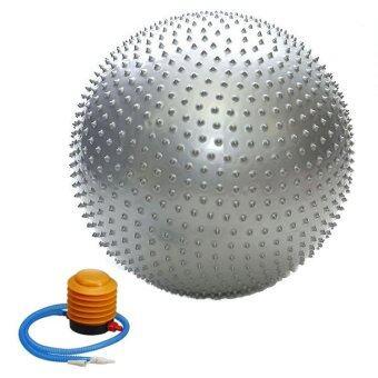 Kinglion Sport 65CM ลูกบอลโยคะผิวหนามสีเทา โยคะบอล ลูกบอลออกกําลังกาย ฟิตบอล ลูกบอลฟิตเนส ฟิตเนสบอล ยิมบอล อุปกรณ์ฟิตเนส ออกกําลังกายลดพุง Grey Fitball Fitness Ball Yoga Ball Massage Ball