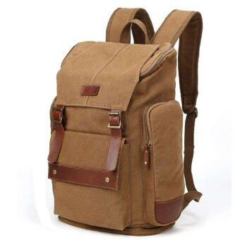 Harga Coffee Retro Casual Double Shoulder Men Travelinglling Climbing Bags - intl