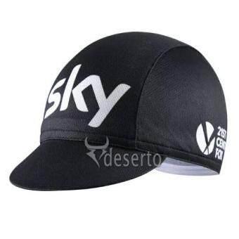 Cbike หมวกแก็ปจักรยาน SKy สีดำ กันเหงื่อ กันแดด ผ้าระบายกาศดี(Freesize)