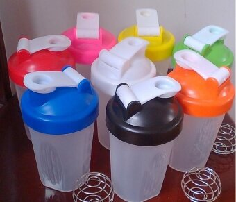 Harga Shake Protein Powder Cup Mixer Cup color:Pink size:400ML - intl