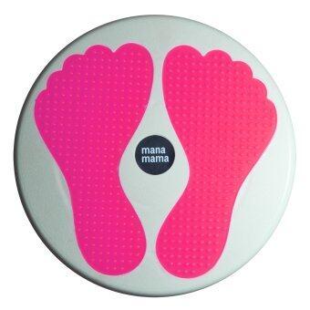 จานทวิส ที่นวดเท้า นวดเท้า ขนาดใหญ่ รูปรอยเท้า สีชมพูสะท้อนแสง / twist disc foot massage board